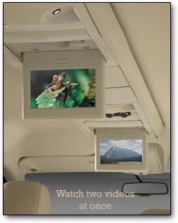 dual video screens