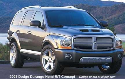 2003 Dodge Durango Hemi R T Concept Vehicle