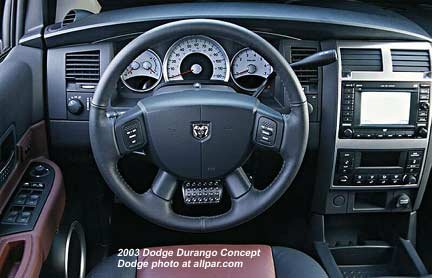 Inside the Dodge Durango Hemi (2003 concept car)