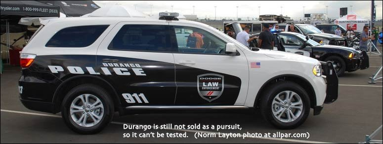 ... of the 2012 model-year Michigan State Police police pursuit car tests