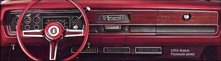 Plymouth Duster dashboard