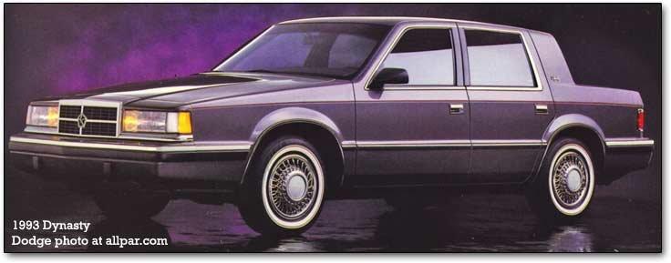Dodge Dynasty/Chrysler New Yorker: luxury looks, K bases