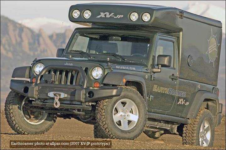 Earthroamer XVJP: Jeep based offroad luxury camper