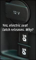 electric seat release