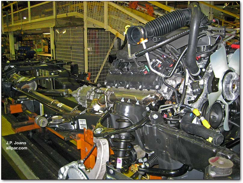 engine and chassis