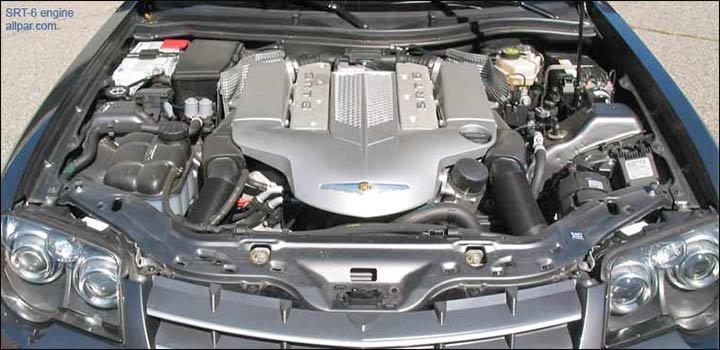chrysler crossfire srt6 engine. spoiler chrysler crossfire srt6 engine