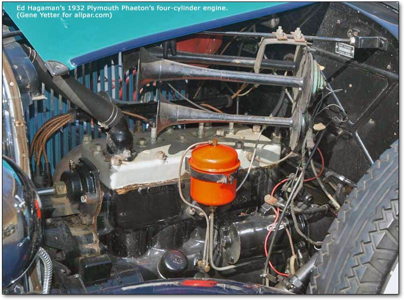 four-cylinder Plymouth engine