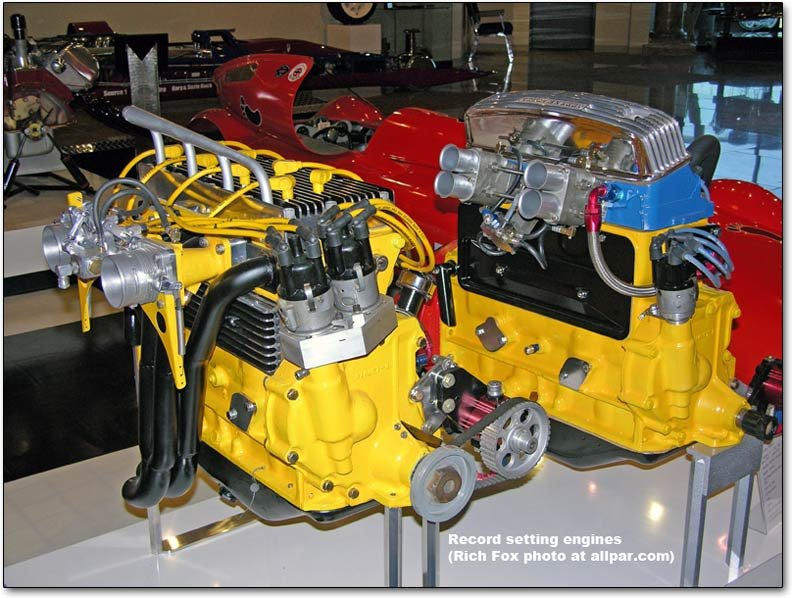 record setting Plymouth four cylinder engines