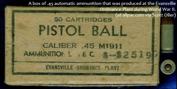 Box of .45 ammunition from Evansville