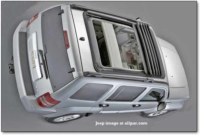 Jeep Liberty fabric sunroof