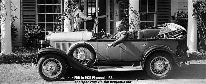 How Did Fdr Drive A Car