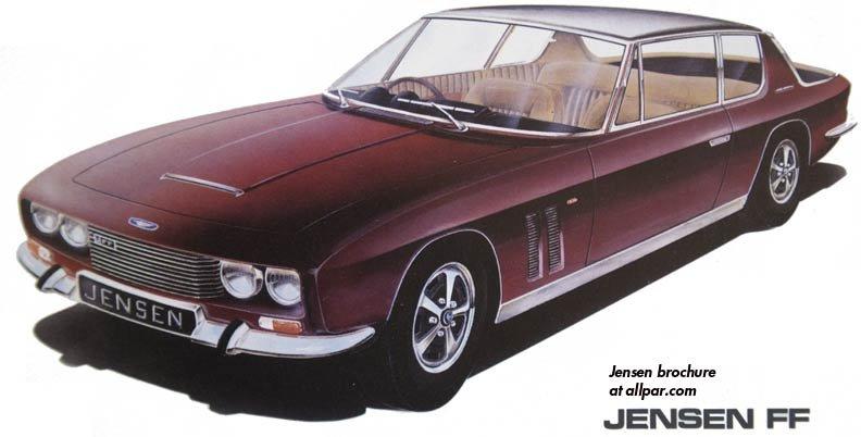 The Jensen Ff Chrysler Powered Four Wheel Drive British Luxury Cars