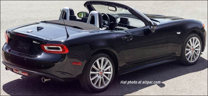 Tail of the 2017 Fiat Spider