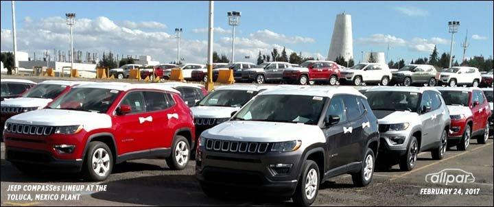 Fleet of Jeep Compass crossovers