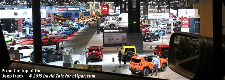 chicago auto show from top