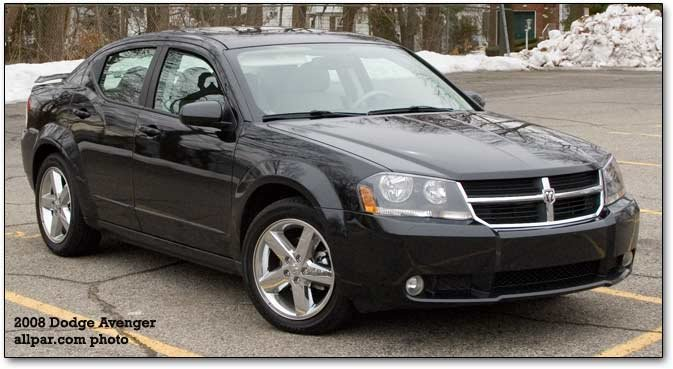 front of 2008 dodge avenger R/T