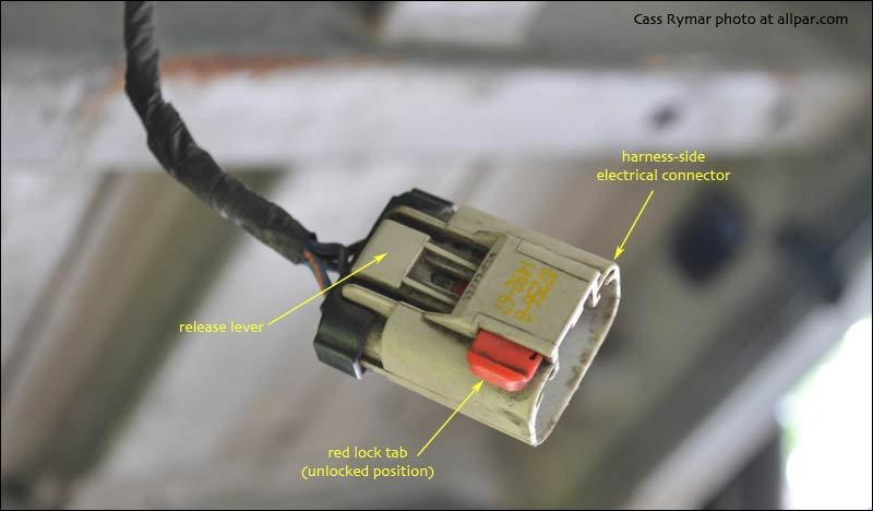 Fuel Pump And Gas Tank Replacement On 2002 200107 Chrysler Town - Fuel Pump Wiring Connectors
