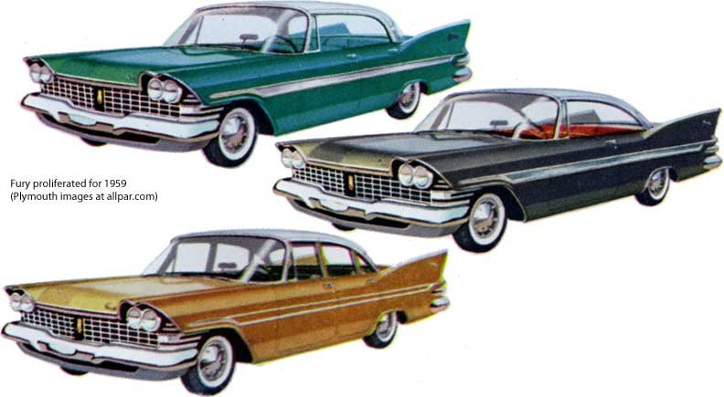 Plymouth Fury cars