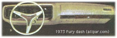1973 Plymouth Fury dashboard