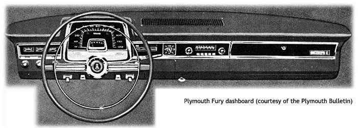1965 Plymouth Fury dashboard