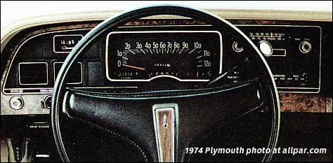 1974 Plymouth Fury dashboard