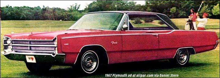 Plymouth  Chrysler  And Dodge Cars Of 1967  Belvedere