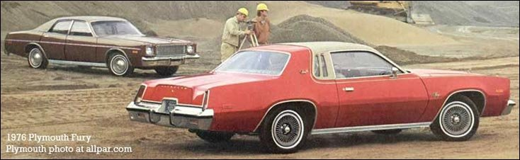 1976 plymouth fury cars