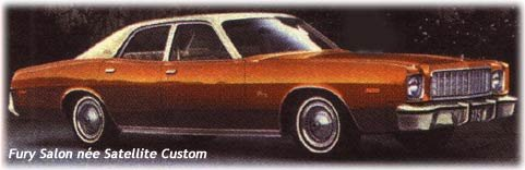 Plymouth Fury Salon cars - 1975