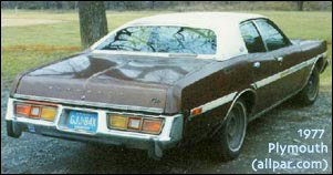 1977 Fury (rear 3/4 view)