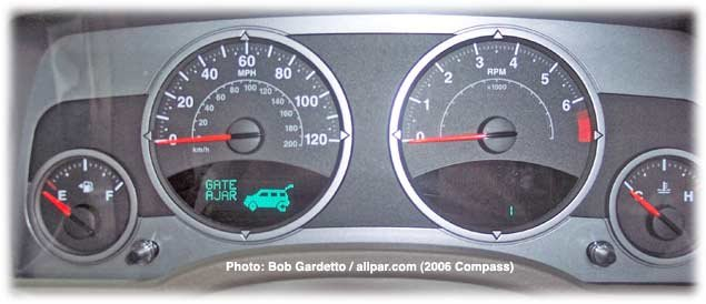 Jeep Compass instrument panel