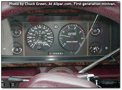 1989 Dodge Caravan gauges