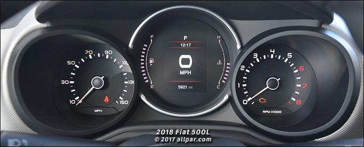 2018 Fiat 500L gauge cluster