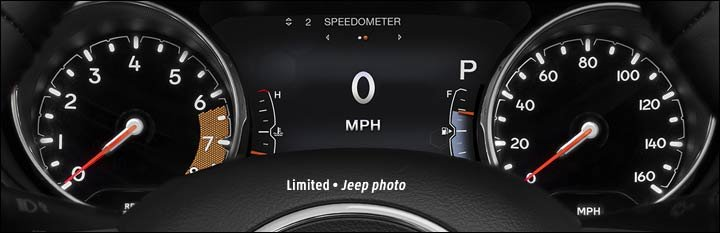 2018 jeep compass gauges