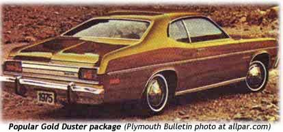 1975 plymouth gold duster cars