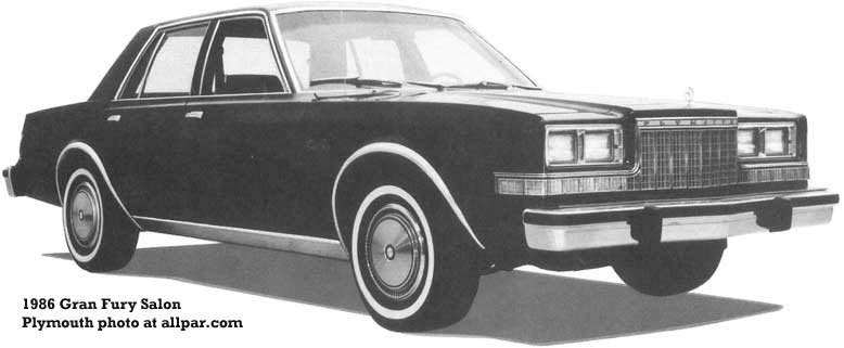 1986 plymouth gran fury cars