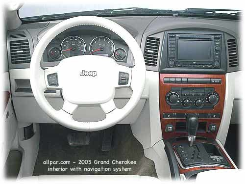 interior - 2005 jeep grand cherokee