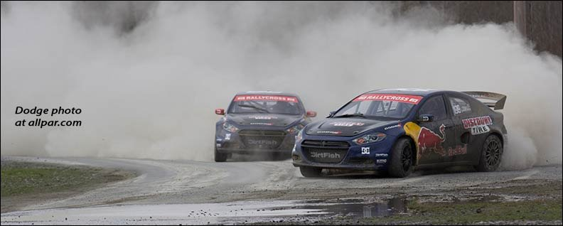 Two 600 Horse Dodge Dart Rally Cars Were Created To Compete In The 2017 Global Rallycross Championship Grc Series Driven By Four Time America