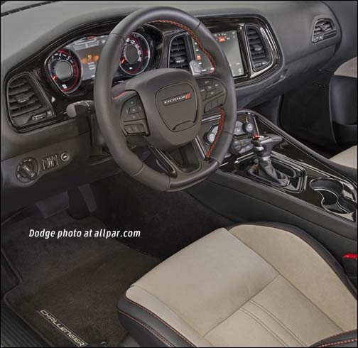 inside the Dodge Challenger GT AWD