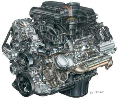 The modern 5.7 Mopar Hemi V8 engine