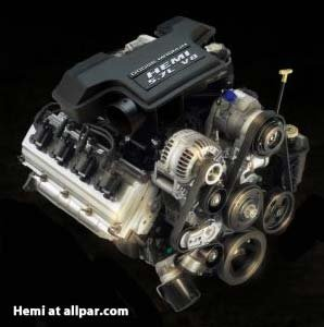 The 345 horsepower 5.7-liter HEMI Magnum V-8