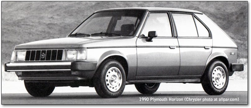 plymouth horizon - 1990