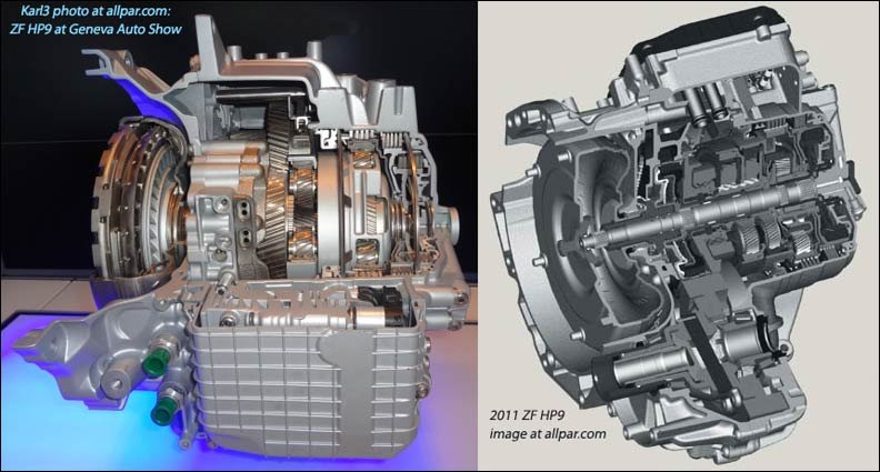 Chrysler 9 speed automatic transmission