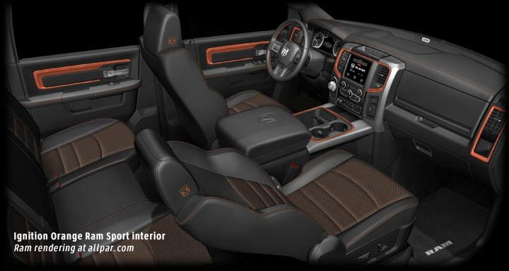 ignition orange interior
