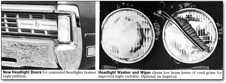 1971 Imperial headlight washers