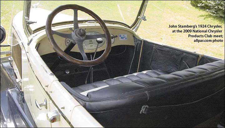 inside the 1924 Chrysler