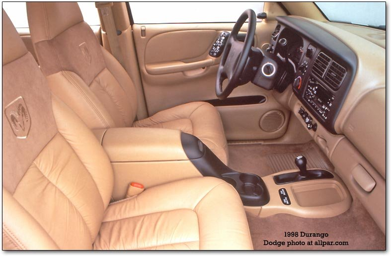 inside the dodge durango. Customers indicated a strong desire for their SUV