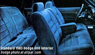 Inside on 1988 Dodge Spirit