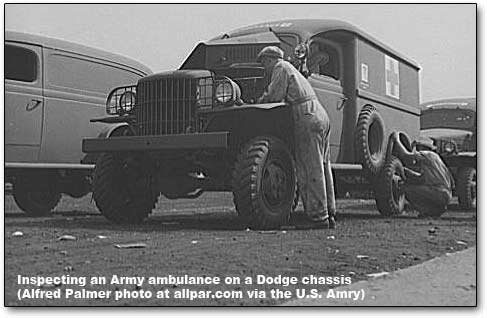 inside the dodge ambulance