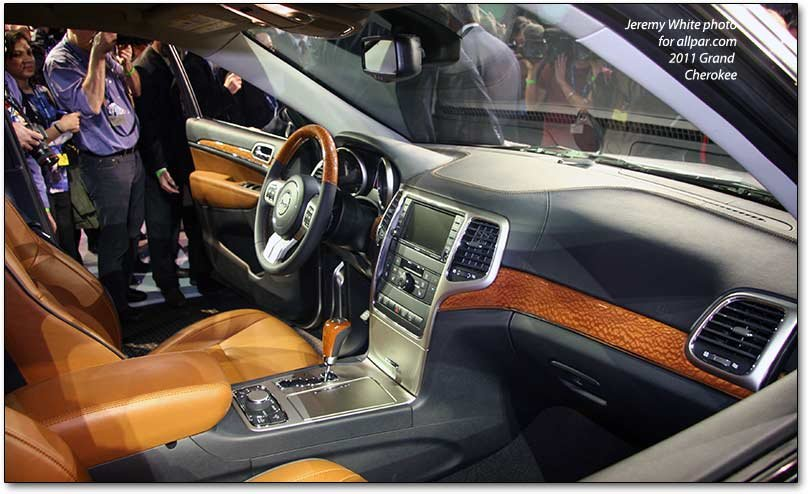 inside the Grand Cherokee