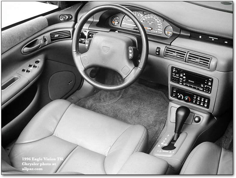 interior - 1996. The Plymouth Accolade was planned as a base model below the